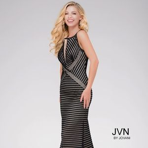 JVN Jovani BLACK Prom or Formal Gown! NEW!